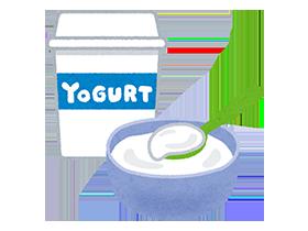 ヨーグルトなどから善玉菌を摂取して、免疫力を高める