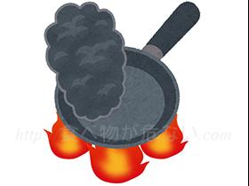 また空焚きでなくても、少量の食材を高温で熱すると、食材が乗っていない部分が空焚き状態になる危険性もあります。