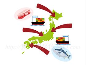 飲食店で使用する肉類や魚介類の多くは外国産