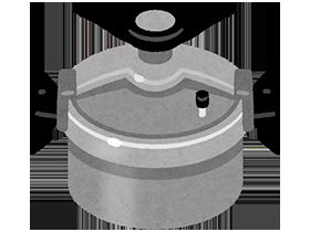 圧力鍋の蓋が開かないため上から水をかけたところ、鍋のフタが飛んで中身が飛び散りやけどを負う事故が発生。
